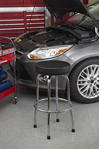 Torin Big Red Swivel Bar Stool Shop Seat Black Import