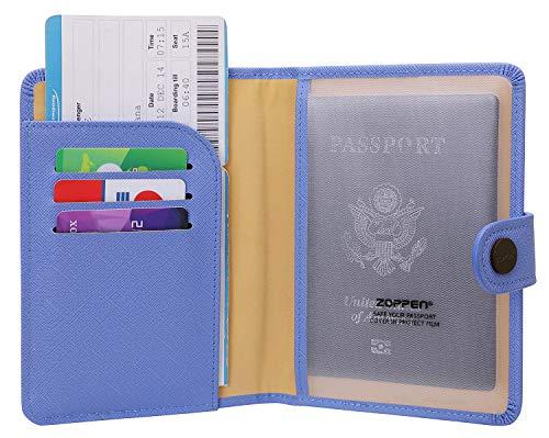 Zoppen Rfid Blocking Travel Passport Holder Cover Slim Id Card Case (#12Niagara ()