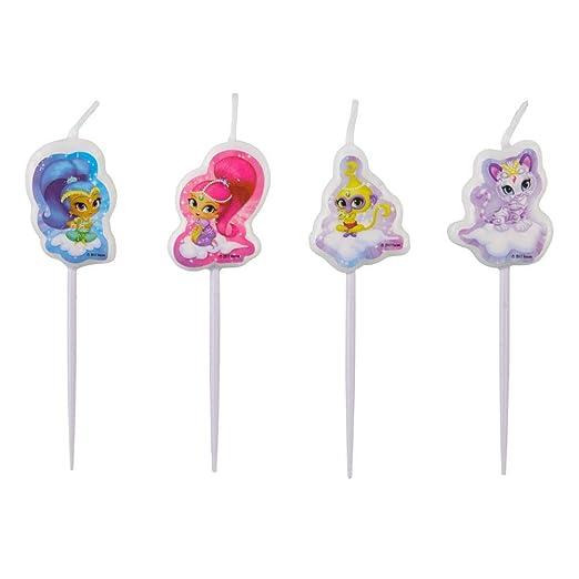 CAPRILO Lote de 4 Velas Infantiles Decorativas Shimmer and ...