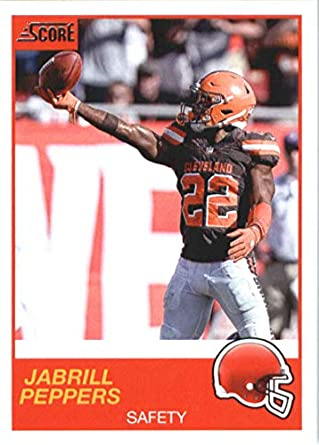 4bf8fb8e5 2019 Score Football  110 Jabrill Peppers Cleveland Browns Official NFL  Trading Card made by Panini
