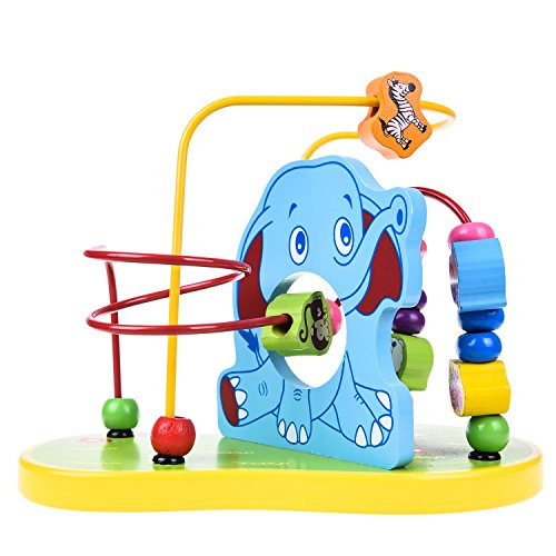 Wooden Bead Maze Roller Coaster Educational Toys for Toddler Kids Baby,Wooden Educational Toy