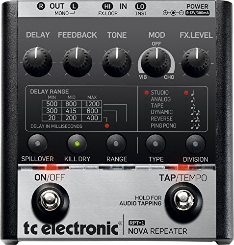 - TC Electronic RPT-1 Nova Repeater Stereo Delay Guitar Effects Pedal