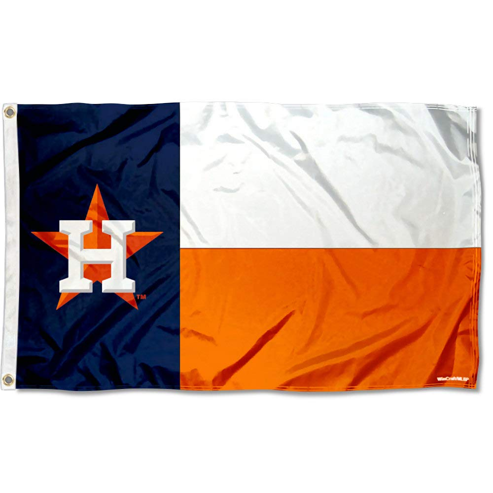 WinCraft Houston Astros State of Texas Logo Flag and Banner