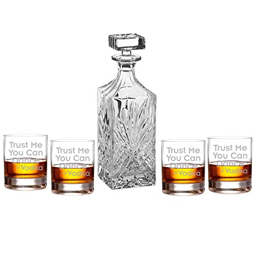 Trust Me You Can Dance Vodka Engraved Decanter Set with Rocks Glasses by All Gifts