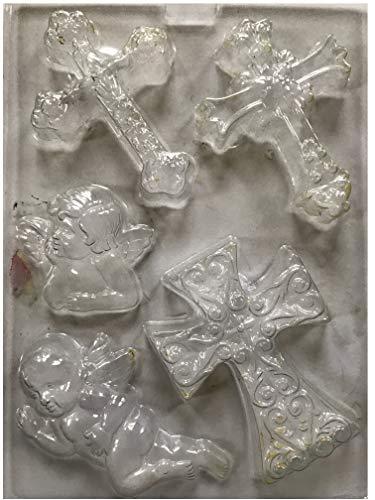 Hard Plastic Cross Molds Angel Cherub for Chocolate Soap Making Fondant Jewelry Bath Bombs Casting Xmas