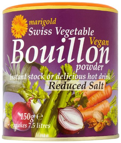 Marigold Swiss Vegetable Vegan Bouillon Powder, Reduced Salt, 5.3-Ounce Units (Pack of 6)