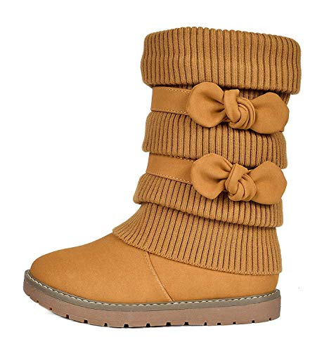 DREAM PAIRS Toddler Klove Camel Faux Fur Lined Mid Calf Winter Snow Boots Size 10 M US Toddler ()