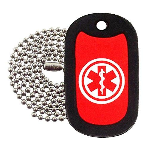 Military Dog Tags - Medical Alert Logo Dog Tag Necklace - Tag-Z