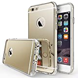Ringke [MIRROR] Compatible with iPhone 6 Case, **Bright Reflection & Scratch Resistant**[Include Screen Protector] Radiant Luxury Mirror Case with Dust Cap & Drop Protection for Apple iPhone 6S - Royal Gold