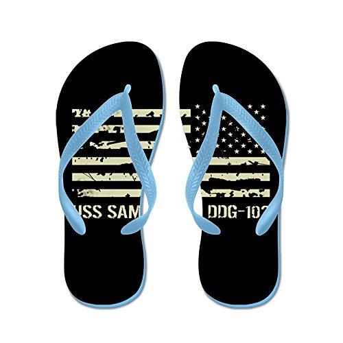 Cafepress Uss Sampson - Flip Flops, Roliga Rem Sandaler, Strand Sandaler Caribbean Blue