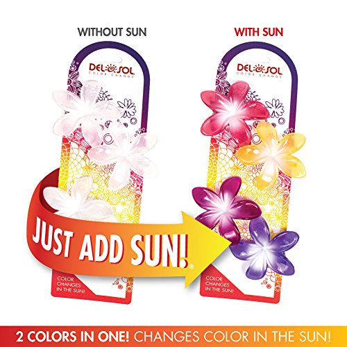 Girl's Color-Changing Hair Clips by Del Sol - Plumeria Flower - Changes Color in the (Changes Hair Colour)