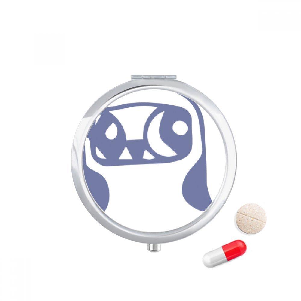Cute Heart-shaped Bird Protect Animal Pet Travel Pocket Pill case Medicine Drug Storage Box Dispenser Mirror Gift