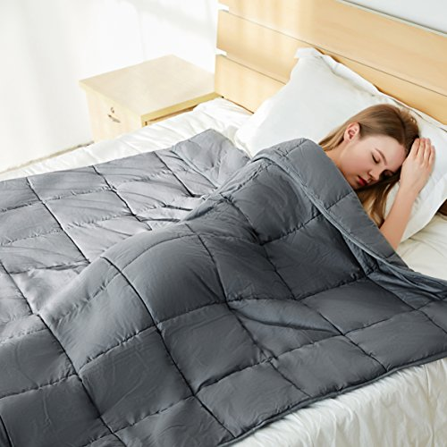 Bertte Weighted Blanket (60''x 80'' Queen Size, 25 lbs, Dark Grey) for Adults, Women, Men, Children Deep Sleep | Gravity Heavy Blanket Great for Stress, Autism, ADHD, Insomnia and Anxiety Relief by Bertte (Image #2)'