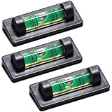 SODIAL(R) 3 Ridgeback Magnetic Magnet Bubble Spirit Level 23mm Vial Perfect for TV