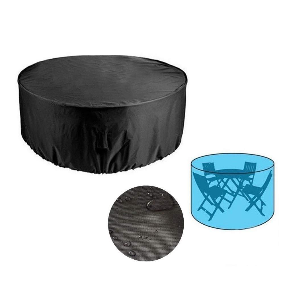 GYYARSX Garden Furniture Cover Outdoor Round Table Dust Cover Chair Garden Rainwater Set, 2 Sizes (Color : Black-Internal Silver, Size : 230x110CM) by GYYARSX-Tarps