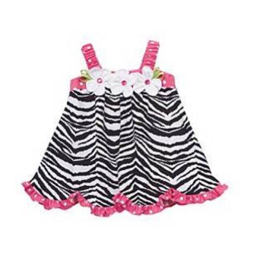 Rare Editions Toddler Girls Black & White Zebra Print Dress 4T
