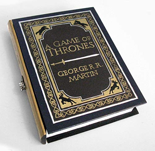 Games of Thrones, the classic- book hideaway box. Secret drawer. Hidden compartment.
