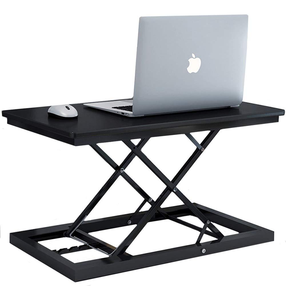 Black-B Height Adjustable Standing Desk Congreener, Sit Stand Desk Ergonomic Computer Desk Office Table Home Office Laptop-Black-a