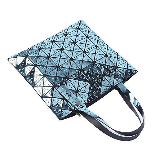la de geométrico de de bolsa de mujeres de la de FZHLY Bolso del la hombro ocasional informal de bolso laser Bolso bolso del las de agua variedad 33x33cm hombro gota lxh compras del Blue UfH7a7wnq