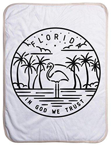 Florida State Design - Sherpa Baby Blanket (40