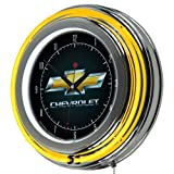 Chevrolet Chrome Double Ring Neon Clock, 14""