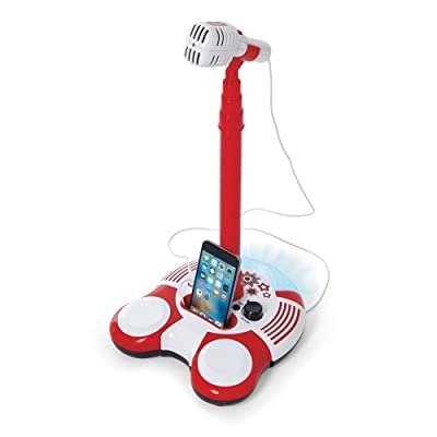 Kidoozie Sing Along Microphone Toy – Plays Music from Phone or MP3 Player: Toys & Games