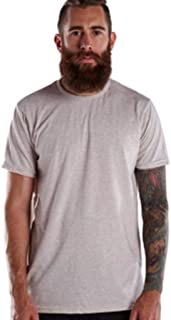 product image for US Blanks US2229 Men's Men's Short-Sleeve Triblend Crew Tri Oatmeal 2XL