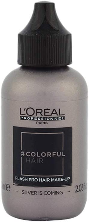 Loreal Colorful hair Flash Silver Is Coming 60ml: Amazon.es ...