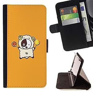 DEVIL CASE - FOR Samsung Galaxy S3 Mini I8190Samsung Galaxy S3 Mini I8190 - Cute Lamb - Style PU Leather Case Wallet Flip Stand Flap Closure Cover