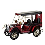 Potato001 Antique Iron Vehicle Car Model Home Office Decoration Ornament Children Gift Toy (Red)