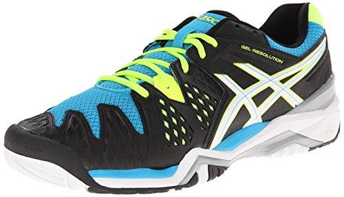 ASICS Men's Gel-Resolution 6 Tennis Shoe,White/Blue/Silver,10.5 D(M) US