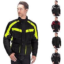 Viking Cycle Enforcer Armored Adventure Touring Textile Motorcycle Jacket For Men (Medium, Green)