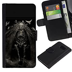 NEECELL GIFT forCITY // Billetera de cuero Caso Cubierta de protección Carcasa / Leather Wallet Case for Sony Xperia Z3 Compact // Evil Ghost Muerte Goth Nightmare