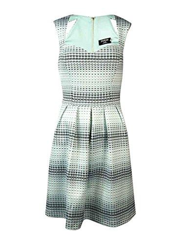 Guess Women's 'Georgia' Heart Dot Sweetheart Scuba Dress (8, Mint Multi)