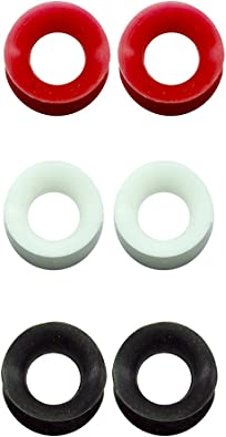 """Details about  /Gauges Silicone Ear Tunnels UV Glow Thin Set 3 Pack Flexi 2g 0g 00g 7//16/"""" 1//2/"""""""