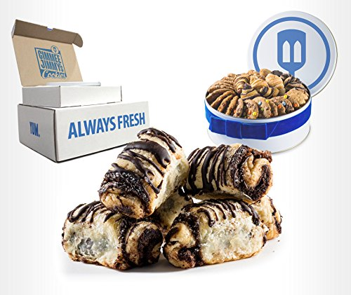 Fresh Baked Homestyle Chocolate Strudel Rugelach Gift| Gimmee Jimmy's Cookies and Gifts | 2 Pound