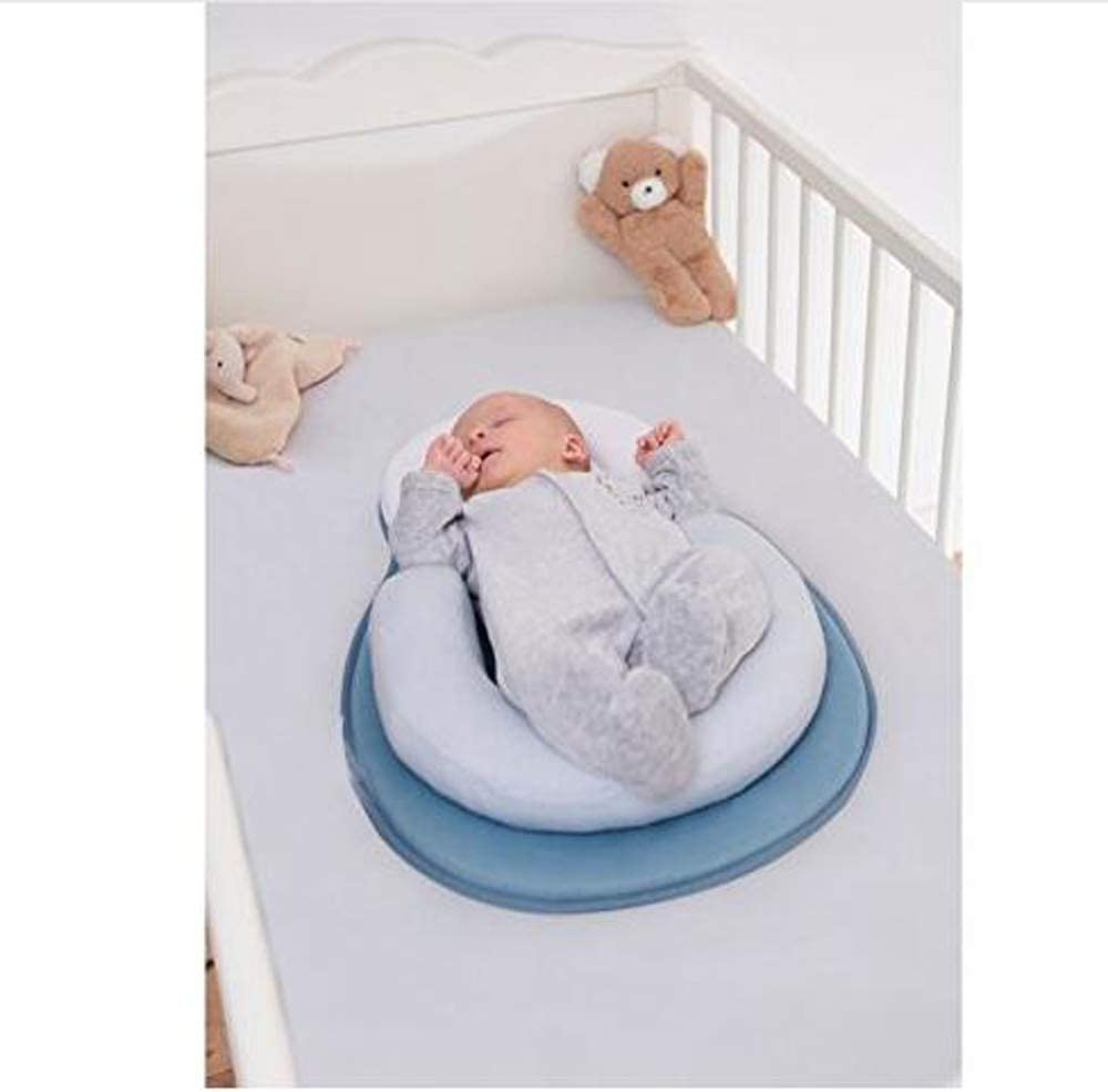 Beige Anti-Rollover Cosy Positioning Bed Mat for Newborn Baby and Infant Age 0-24 Months Topchances Baby Sleeping Pillow