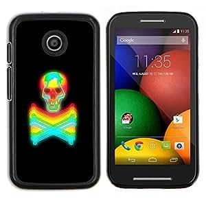 """For Motorola Motorola Moto E / XT1021 / XT1022 Case , Tóxico Mantener alejado Crossbones Cráneo"""" - Diseño Patrón Teléfono Caso Cubierta Case Bumper Duro Protección Case Cover Funda"""