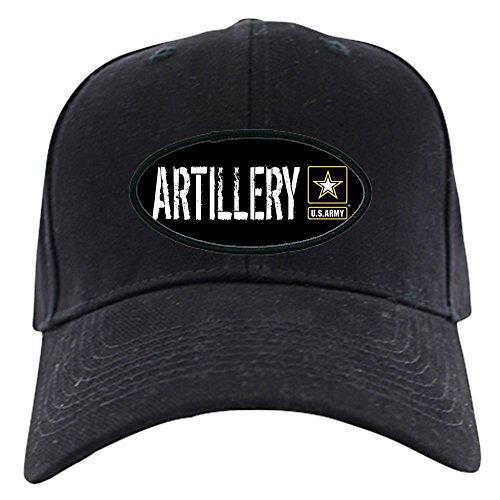 CafePress - U.S. Army: Artillery (Black) Black Cap - Baseball Hat, Novelty Black Cap