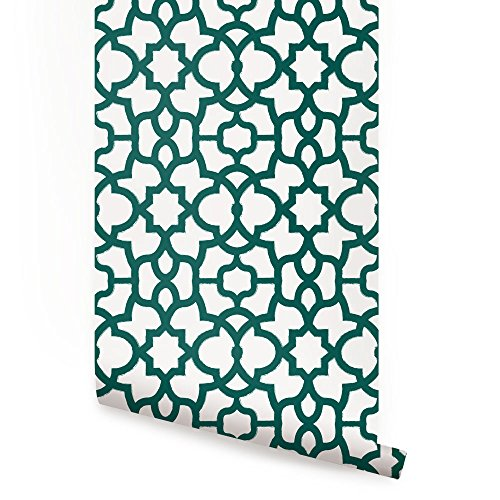 Trellis Wallpaper - Forest Green - 2 ft x 9 ft - 6pk - by Simple Shapes ®
