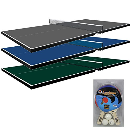 Martin Kilpatrick Conversion Table Tennis Top for Pool Table - Blue, Green, or Grey Colors - With or Without Ping Pong Paddle Set - 3 Yr Warranty - Net Set - Protection Pads and Rails by Martin Kilpatrick