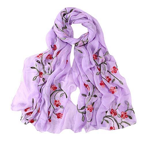 Hijab Scarfs for Women Hot Sale,deatu Clearance Ladies Embroidery Chiffon Wrap Shawls Headband Muslim Scarf(N)