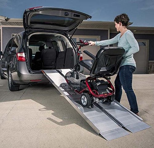 EZ Access SUITCASE Singlefold Ramp Aluminum 8-FT Length Residential for wheelchairs or scooters