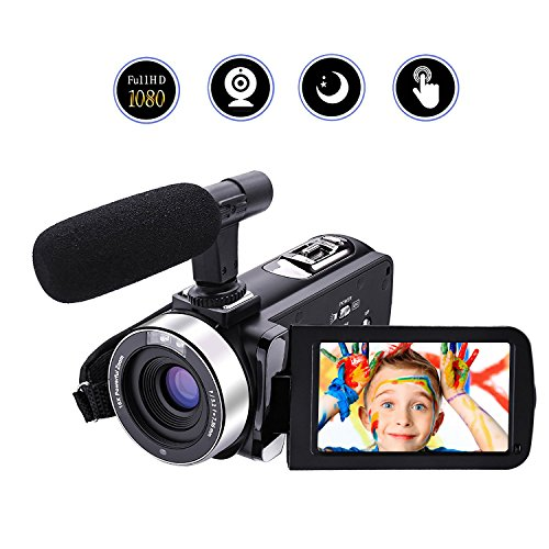 """Camera Camcorder With Microphone Video Camera Full HD 1080p 30fps 24.0MP Camcorders Night Vision Digital Camera Webcam 3"""" Touchscreen"""