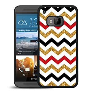Glitter Chevron Durable High Quality HTC ONE M9 Phone Case
