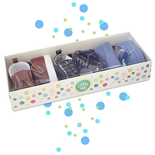 Pictures of 3 Pack Baby Infant & Newborn Boy Shoes- Multi (Brown, Blue, Black) 8