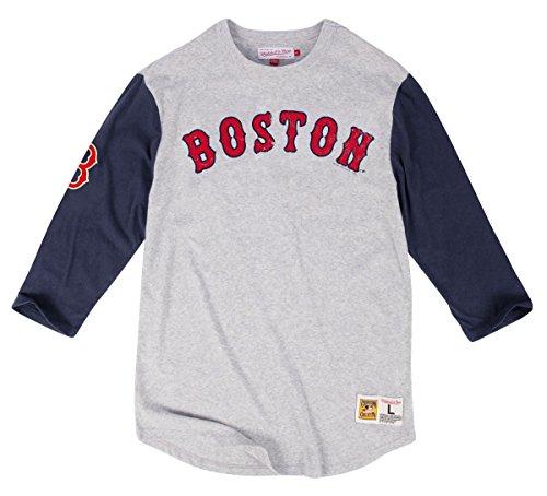 Boston Red Sox Mitchell & Ness Men's Scoring Position 3/4 Sleeve Raglan T-Shirt (Xlarge) (Boston Red Sox Raglan)