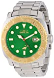 Invicta Men's 14484 Pro Diver Automatic Green Dial Stainless Steel Watch, Watch Central