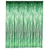 "Set of 2 Green Foil Fringe Door & Window Curtain Party Decoration 3' X 8' (36"" X 96"") ""Value Pack of 2"""