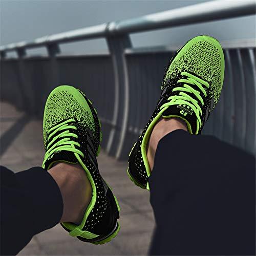 Mesh J Fitness Uomo Running Scarpe Verde Trekking Basse Sportive Respirabile Da Correre Basket Per Ginnastica Ubfen Training All'aperto Sneakers Corsa Casual qaRAvpyH